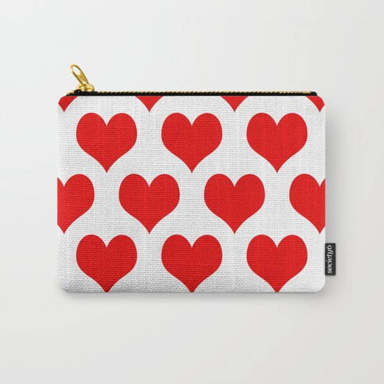 Holidaze Love Hearts Red Carry-All Pouch