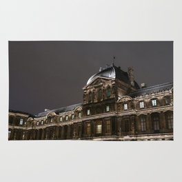 The Louvre at Night Rug