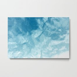 Reflection of Sky on Mirror-like Water Surface Metal Print