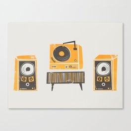 Vinyl Deck And Speakers Canvas Print