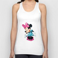 minnie mouse Tank Tops featuring Minnie Mouse Cartoon by Maxvision