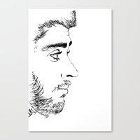zayn Canvas Prints featuring ZAYN by Naty Amity