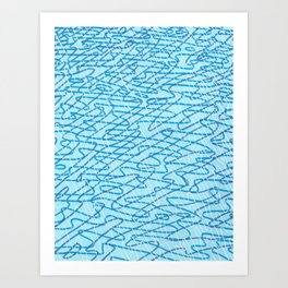 Blue Ripples Art Print