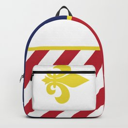 City of Detroit Flag in Minimal Design | Coat of Arms Backpack