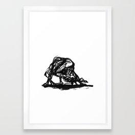 Boceto gestual 4 Framed Art Print