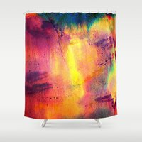 tie dye Shower Curtains featuring Tie Dye by Sarah Maybin