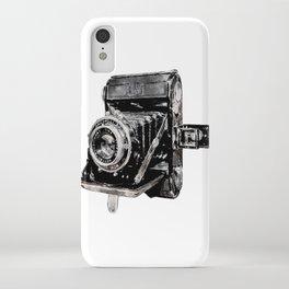 Vintage Watercolor Camera - Zeiss Ikon Folding Camera  iPhone Case