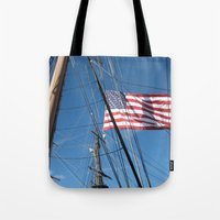 flag Tote Bags featuring Flag by courtney2k ⚓ design™