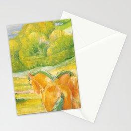 """Franz Marc """"Large Landscape I (Landschaft I)"""" Stationery Cards"""