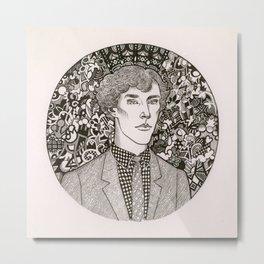 BBC Sherlock fan art: Drama Queen Metal Print