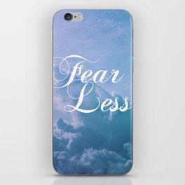 Fearless in a beautiful cloudy sky iPhone Skin