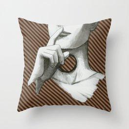 Shush. Kraftpaper 8 Throw Pillow