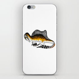 Spinosaurus mother and juvenile iPhone Skin