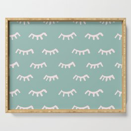 Mint Sleeping Eyes Of Wisdom - Pattern - Mix & Match With Simplicity Of Life Serving Tray