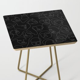 Face Lace Side Table