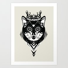 King of Wolf Art Print