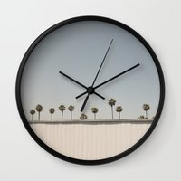 mercedes Wall Clocks featuring Sneaky Palm Trees by cescabear