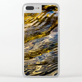 River Ripples in Copper Gold and Brown Clear iPhone Case