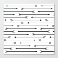 arrows Canvas Prints featuring Arrows  by Paint Me Pink