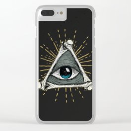 All seeing eye of God Clear iPhone Case