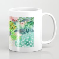 psychedelic Mugs featuring Psychedelic by Risahhh