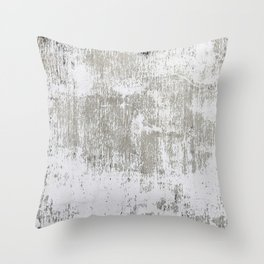 Vintage White Wall Throw Pillow