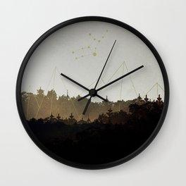 Virgo Pyramids Wall Clock