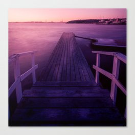 Sunset at Langedrag, Gothenburg Canvas Print