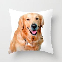 Beautiful Dog Golden Retriever and Your Bone Throw Pillow