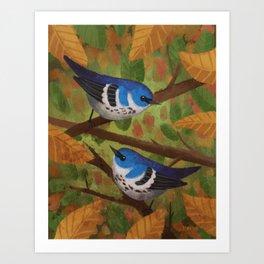 Cerulean Warblers Art Print