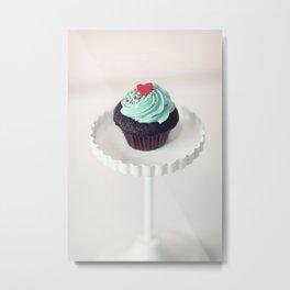 Lil' Heart Cupcake Metal Print