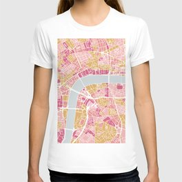 Colorful London map T-shirt