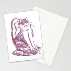 Geek Cat  Stationery Cards