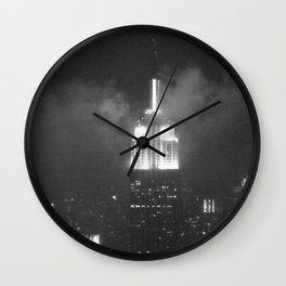 Gotham city in black and white Wall Clock