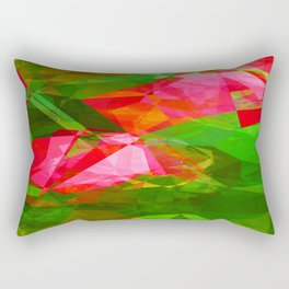 Pink Roses in Anzures 5  Abstract Polygons 1 Rectangular Pillow