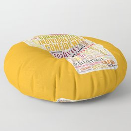 Life Path 1 (color background) Floor Pillow