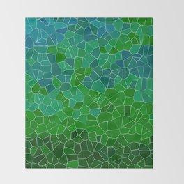 Mosaic Forest Throw Blanket