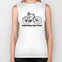 bikes Biker Tanks featuring stolen bikes... by Seamless