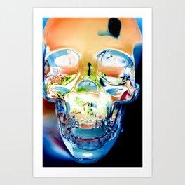Invert Skull  Art Print