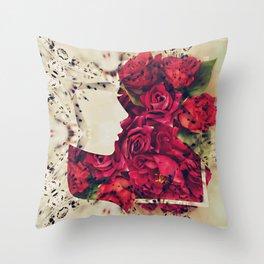 Rosegirl Throw Pillow
