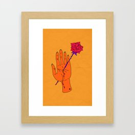 Wounded Hand - Golden yellow Framed Art Print