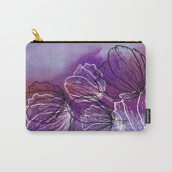 Colorful Flower Fantasy Carry-All Pouch