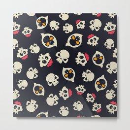 Cute Skull Halloween for Little One Metal Print
