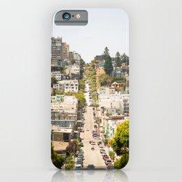 Climbing Hills in San Francisco iPhone Case