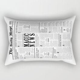 The Daily Mage Fantasy Newspaper Rectangular Pillow
