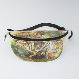 Abstract Bicycle Fanny Pack