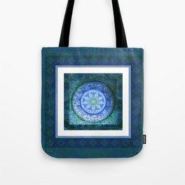 Structure and Focus Peace Meditation Texture Boho Mandala Tote Bag