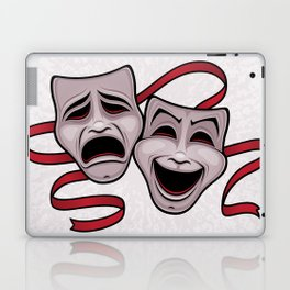 Comedy And Tragedy Theater Masks Laptop & iPad Skin
