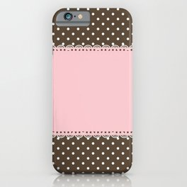 Pink Lace iPhone Case
