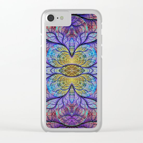 Abstract 1A Clear iPhone Case